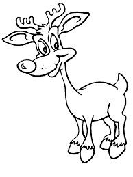 Reindeer1 Christmas Coloring Pages