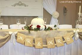 Country Rustic Bride And Groom Tables