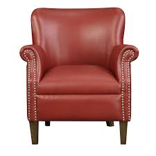 251 First Evelyn Red Accent Chair