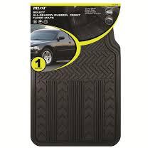 Pilot Automotive All Weather Front 1 Pc. Rubber Floor Mat - Black