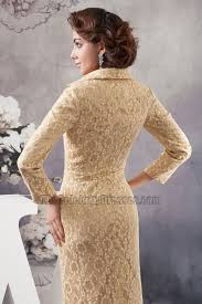 chic gold lace long sleeve formal dress evening gown