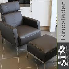 ledersessel torro mit hocker rindsleder braun lederstühle esszimmer stühle kaufen bei six markenmöbel