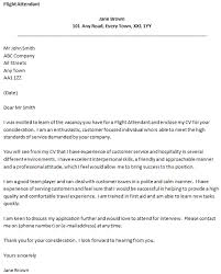 flight attendant cover letter with experience flight attendant