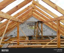 100 House Trusses Unfinished Attic Image Photo Free Trial Bigstock