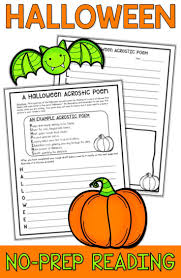 Halloween Picture Books For 4th Grade by Halloween Reading Packet Halloween Reading Comprehension Passage