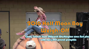 Largest Pumpkin Ever Weight by Half Moon Bay Pumpkin Weigh Off 2016 Youtube