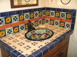 tiles mexican style ceramic tiles talavera sink showing tiled