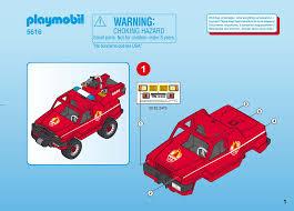 100 Playmobil Fire Truck Manual Set 5616 Rescue Terrain Truck