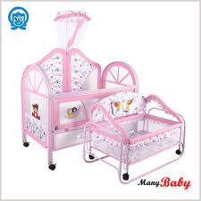 Newest Metal Swinging Design Baby Cribs Baby Cot Bed Factory