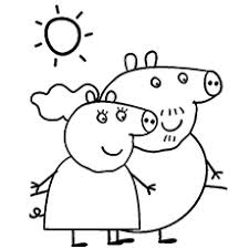 Coloring Pages Of Granny Pig And Granpa Are Two Characters In Peppa