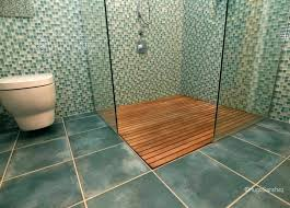 Teak Shower Floor Insert Inserts Wood Tray
