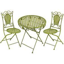 table deux chaises fer forgé vert anglais oxford meuble de style