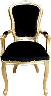 casa padrino barock luxus esszimmer stuhl mit armlehnen schwarz gold