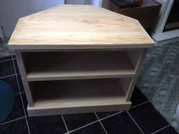 tall corner media console free woodworking plans and projects