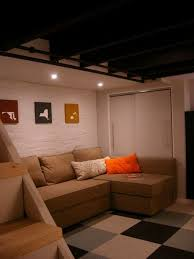 basement bedroom unfinished ceiling endearing decor inspirations