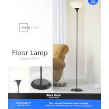 Mainstay Floor Lamp With Reading Light by Mainstays Hw F1219bk 72 Inch 3 Way Switch Plastic Shades Combo