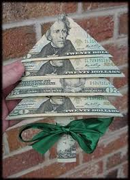 Fold Your Christmas Money Into Little Tree I Think This Is Great Hate Giving As A Gift But Sometimes That