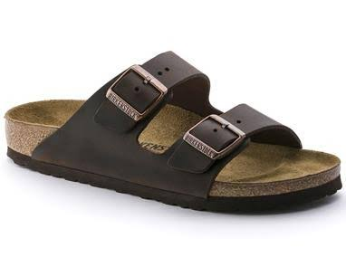 Birkenstock Unisex Arizona Sandals - Habana Oiled Leather, Brown
