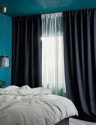 ikea sarita gardinen blau neu ovp 2 schals eur 11 90