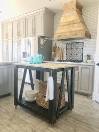 DIY Modern Farmhouse Kitchen Island Cart Shanty 2 Chic