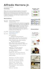 Interior Designer Resume samples VisualCV resume samples database