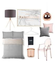 Blush Copper Grey Marble Bedroom Planning By Loissteele On Polyvore Featuring And BedroomBedroom Ideas Rose GoldGold