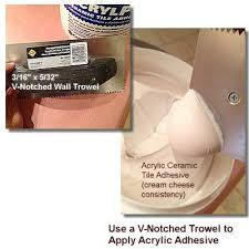 Acrylpro Ceramic Tile Adhesive Cleanup by How To Install Ceramic Wall Tile