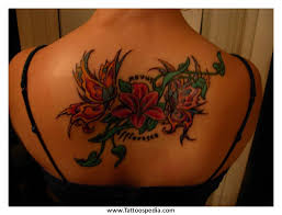 Flower Lower Back Tattoos 2 850x650 Pixels