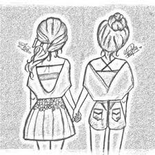 Best Friend Drawings That Are Easy To Draw