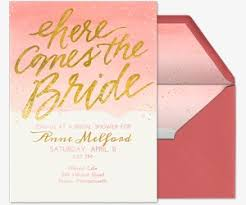 Here es the Bride Gold Invitation