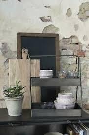 details zu ib laursen etagere schwarz metall aufbewahrung küche bad regal ablage