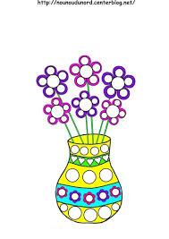 Vase Fleuri Carrelage Mural 1740 Fleurs Et Végétation Coloriages