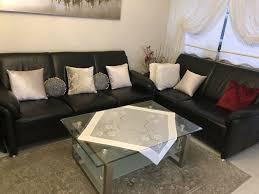sitzgarnitur echtleder sofa set 3 2 1 set