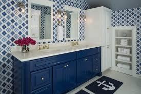 blue vanity contemporary bathroom benjamin moore down pour