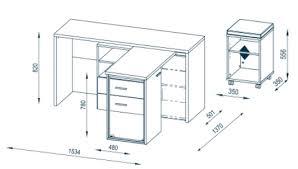 bureau informatique contemporain en bois chêne sonoma blanc