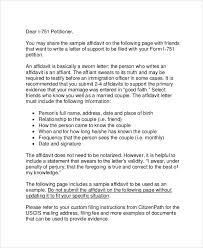 Letter of affidavit template