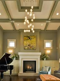 High Ceiling Light Fixtures Family Room Lights Living Dining With