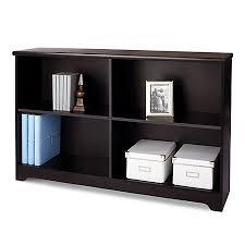 Realspace Magellan Collection 2 Shelf Sofa Bookcase Espresso by