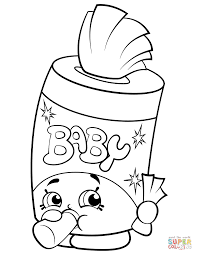 Click The Baby Swipes Shopkin Coloring Pages