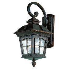 shop bel air lighting 25 5 in h black outdoor wall light at lowes