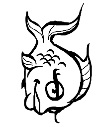 Slippery Fish Coloring Pages Free Of