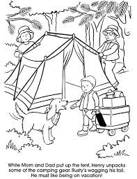 Family Camping Coloring Pages Printable