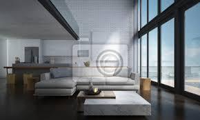 fototapete die lounge und doppel raum wohnzimmer und küche innenarchitektur