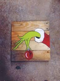 The Grinch On Pallet Wood Perfect For Fun Christmas Decor Christmasdecor