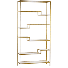 Gold Metal Bookcase Neau ic