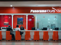 The Travel Agent Has A Transparent Office I Couldnt Help Not To Take Photo Because Love Orange Chairs Placed In Row Against White Table And