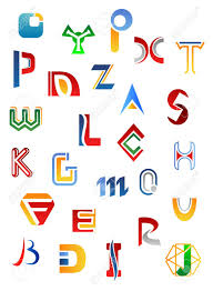 set of full alphabet symbols and letters stock vector
