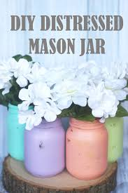 DIY Distressed Mason Jar