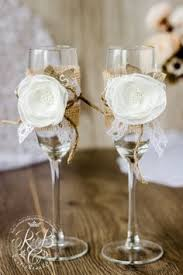 WHITE Rustic Chic Wedding Glasses Personalized By RusticBeachChic