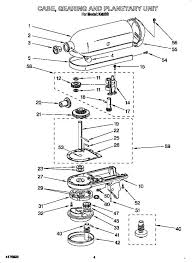 Kitchen Aid Blender Parts Mixer Diagram Portrayal Case Gearing And Planetary Listing